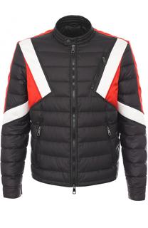 Утепленная стеганая куртка на молнии с контрастной отделкой Neil Barrett
