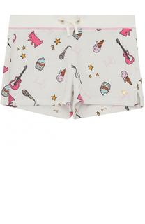 Мини-шорты с принтом Juicy Couture