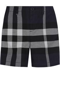 Хлопковые шорты с принтом Burberry