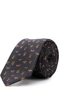 Шелковый галстук с вышивкой Valentino