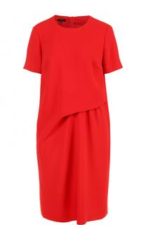 Мини-платье прямого кроя с драпировкой Escada