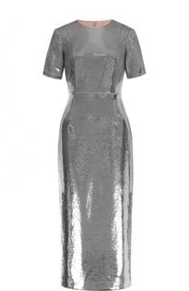 Приталенное платье-миди с пайетками Diane Von Furstenberg