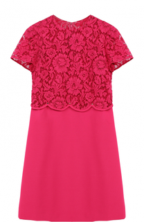 Мини-платье с кружевным лифом Valentino