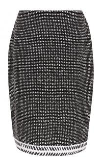 Буклированная юбка-миди St. John