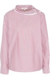 Хлопковая блуза в полоску Atlantique Ascoli