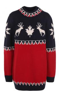 Удлиненный пуловер с принтом Dsquared2