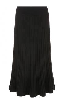 Плиссированная юбка-миди DKNY