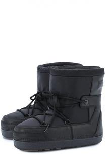 Сапоги-луноходы на шнуровке Moncler Enfant