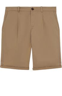 Хлопковые шорты прямого кроя с контрастной отделкой Gucci