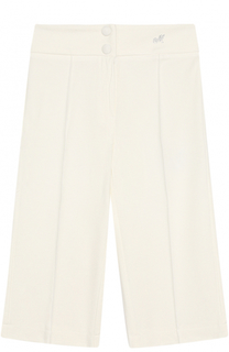 Укороченные брюки прямого кроя с широким поясом Monnalisa