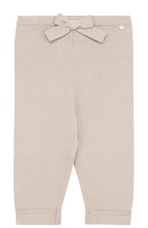 Вязаные брюки из хлопка с фигурными отворотами Tartine Et Chocolat