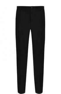 Укороченные брюки прямого кроя из смеси хлопка и шерсти Dolce & Gabbana