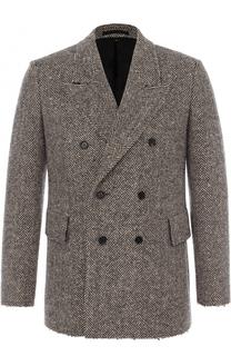 Шерстяной двубортный пиджак Burberry