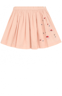 Хлопковая юбка с вышивкой и бисером Tartine Et Chocolat