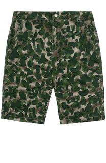 Хлопковые шорты прямого кроя с принтом Stella McCartney