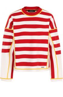 Пуловер прямого кроя в полоску Dsquared2