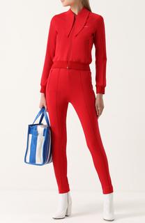 Костюм с курткой на молнии и брюками-скинни Balenciaga