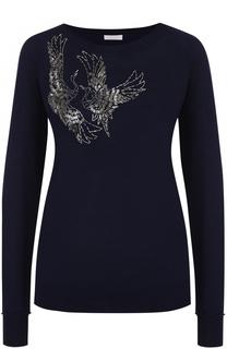 Пуловер прямого кроя с вышивкой бисером Escada Sport