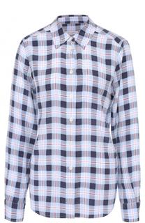 Шелковая блуза прямого кроя в клетку Equipment