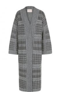 Удлиненное вязаное пальто прямого кроя Tak.Ori