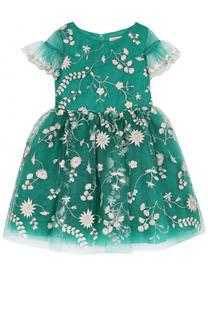 Мини-платье с вышивкой и пышной юбкой David Charles