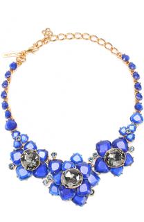 Колье с цветочным декором и кристаллами Swarovski Oscar de la Renta
