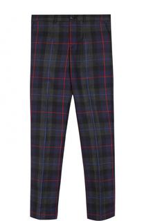 Шерстяные брюки прямого кроя в клетку Dolce & Gabbana