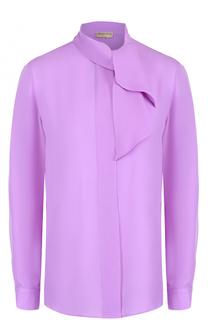 Шелковая блуза прямого кроя с воротником аскот Emilio Pucci