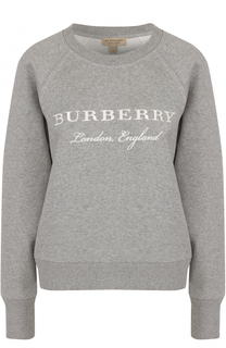 Свитшот с вышитым логотипом бренда Burberry