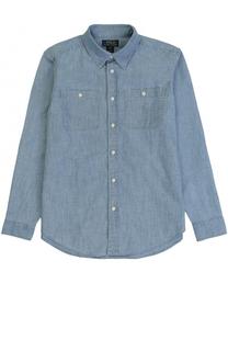 Рубашка из денима с накладными карманами Polo Ralph Lauren
