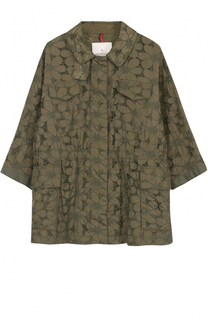 Кружевная куртка свободного кроя с укороченным рукавом Moncler
