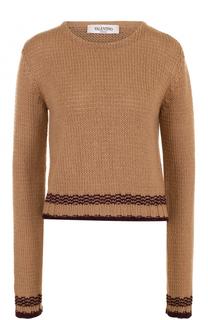 Пуловер прямого кроя с круглым вырезом Valentino