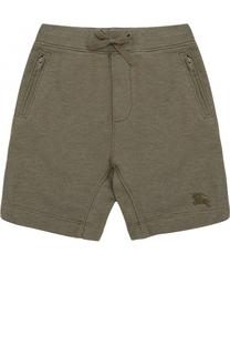Хлопковые шорты с карманами на молнии Burberry