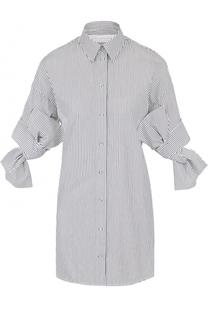 Блуза в полоску в бантами на рукавах Victoria by Victoria Beckham