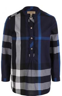 Блуза в клетку с укороченным рукавом Burberry
