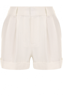 Мини-шорты с защипами Alice + Olivia