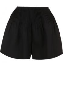 Мини-шорты с защипами и оборкой Valentino