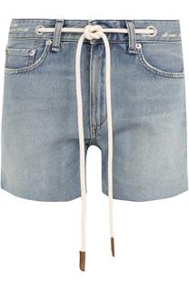 Джинсовые мини-шорты с контрастным поясом Rag&Bone Rag&Bone