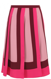 Юбка-миди в контрастную складку Valentino