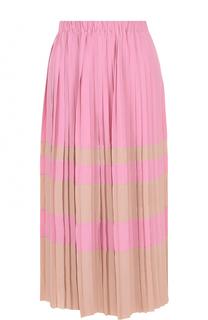 Плиссированная юбка-миди в полоску No. 21