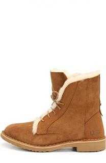 Замшевые ботинки на шнуровке UGG Australia