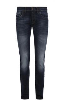 Зауженные джинсы с потертостями Dirk Bikkembergs