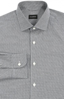 Хлопковая рубашка с узором Ermenegildo Zegna