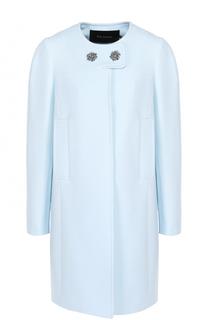 Пальто прямого кроя с декорированными пуговицами Tara Jarmon