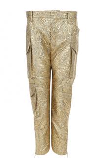 Укороченные брюки с фактурной металлизированной отделкой Dsquared2