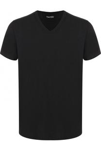 Хлопковая футболка с V-образным вырезом Tom Ford