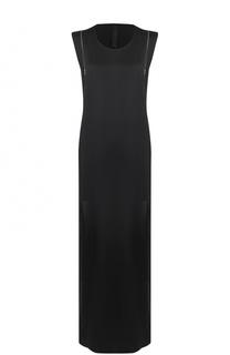 Платье-макси прямого кроя с разрезами Ilaria Nistri