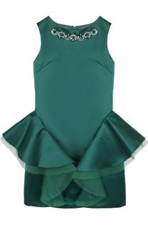 Приталенное мини-платье с декоративной отделкой и кристаллами David Charles