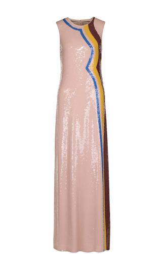 Шелковое платье-макси с пайетками Emilio Pucci