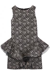 Приталенное мини-платье с декоративной отделкой David Charles